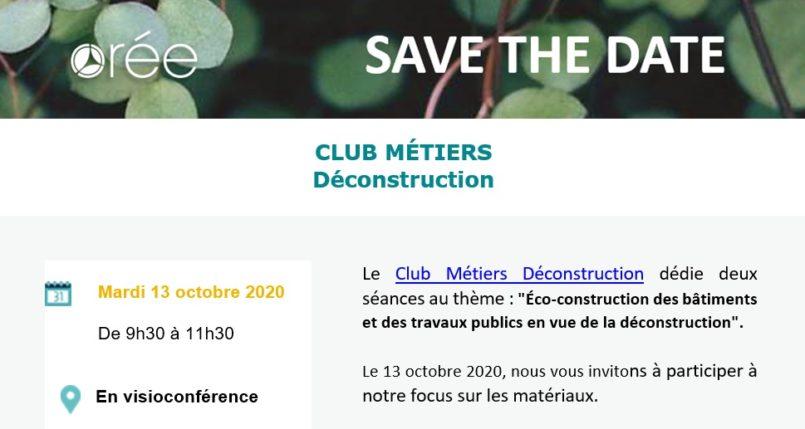 Orée > Participez au Club Métiers Déconstruction