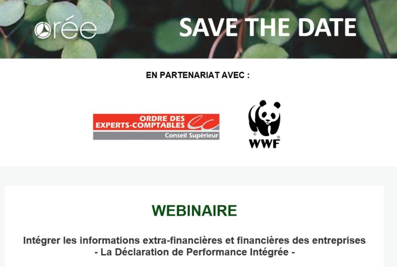 """ORÉE > Intégrer les informations extra-financières et financières des entreprises """"La Déclaration de Performance Intégrée"""""""