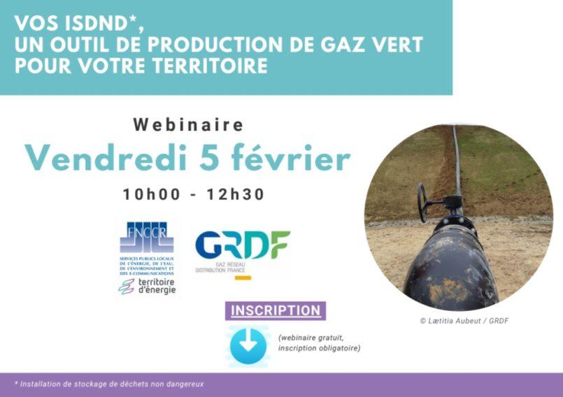 FNCCR-GRDF > Injection du biogaz des ISDND