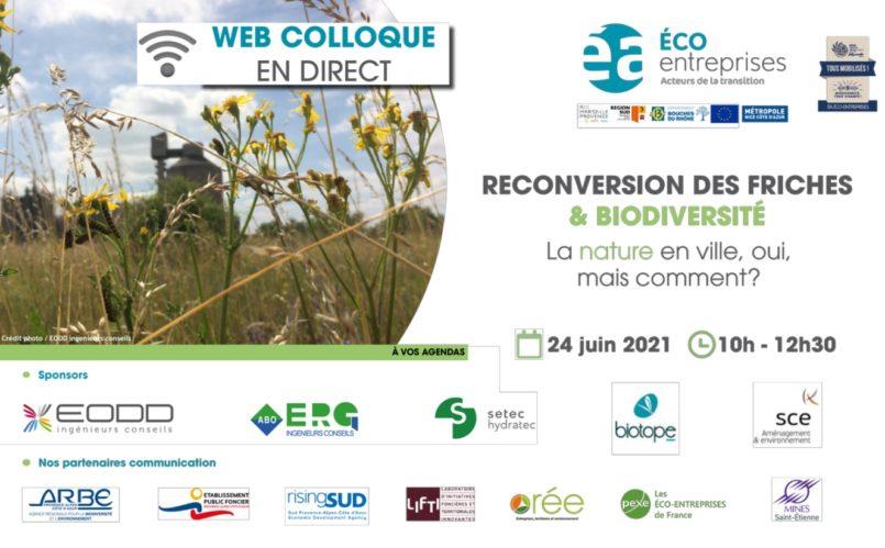 ÉA ÉCO-ENTREPRISES >Web colloque Friches & Biodiversité : La nature en ville, oui, mais comment ?
