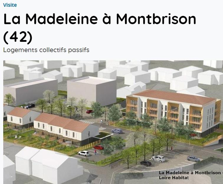 ASSOCIATION VAD > Visite du chantier de La Madeleine à Montbrison, logements collectifs E3C1 certifiés Passivhaus